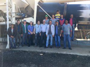 Treinamento Luquips BOMAG MARINI usina de asfalto vibro acabadora